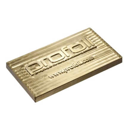 brass hot foil stamping plate