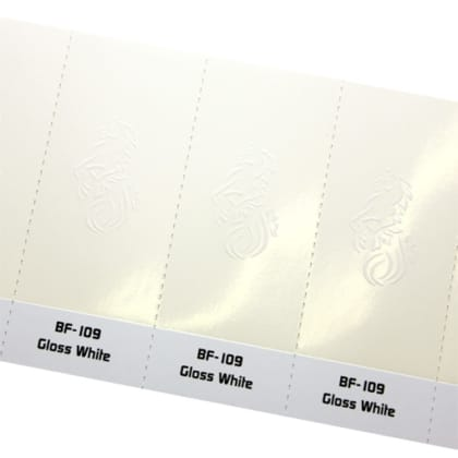 white foil hot stamping
