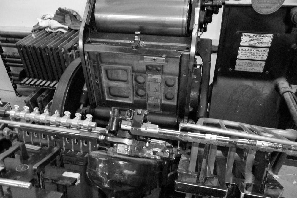 Letterpress machine parts