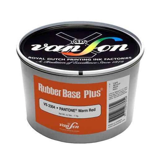 Van Son Pantone Warm Red 2304 Rubber Base Ink