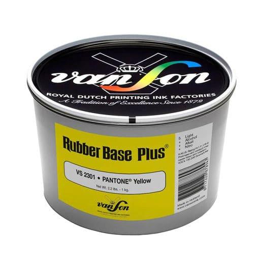 Van Son Pantone Yellow 2301 Rubber Base Ink
