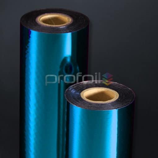 cyan blue hot stamping foil