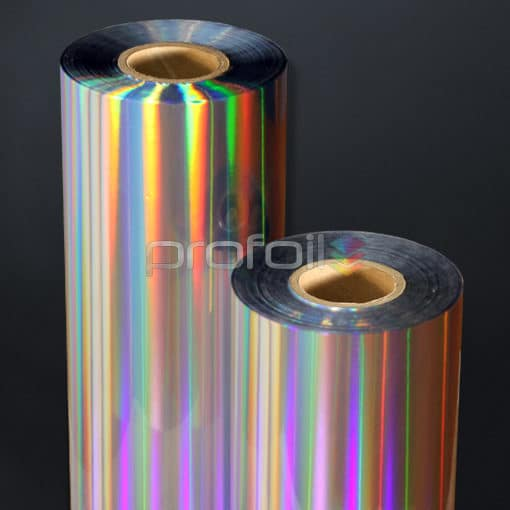 Holographic diffuser spectrum hot stamping foil