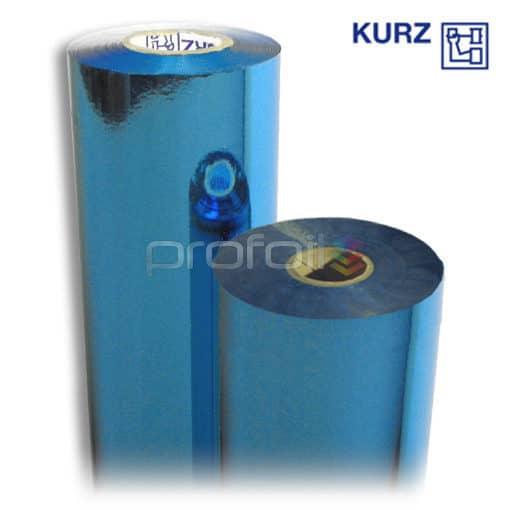 Blue hot foil stamping image